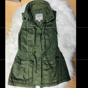 ❤️Abercrombie & Fitch Green Vest